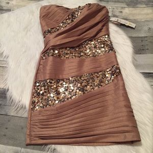 NWT Jump Apparel sequin Dress size 3/4
